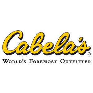 Cabela's logo in gold and black - 300 px