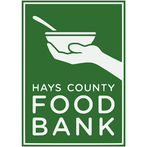 Green vertical logo for Hay County Food Bank