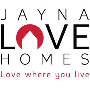 Jayna Love Homes logo in black and red - 300 px