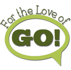 Fore the Love of Go! logo in dark green and light green - 300 px