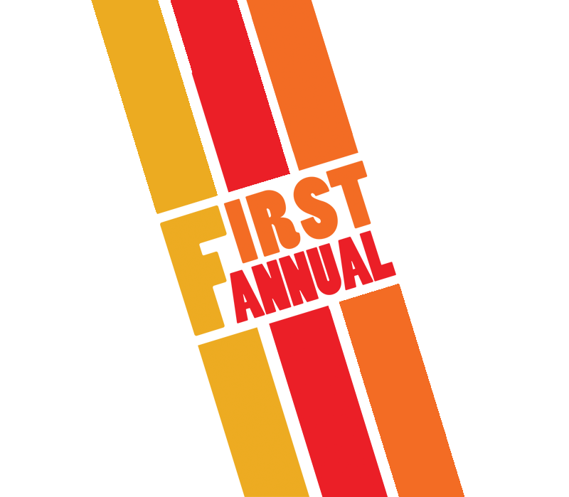 First Annual stripes in gold, orange and red - 800 x 699