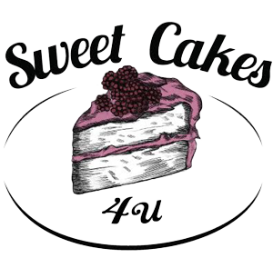 Sweet Cakes For U logo in black, white and pink - 300 px